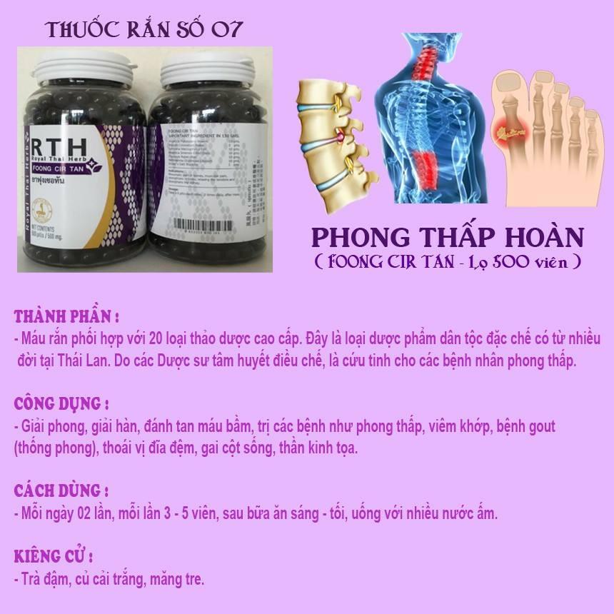 thuốc xương khớp thái lan foong cir tan thuốc rắn số 7