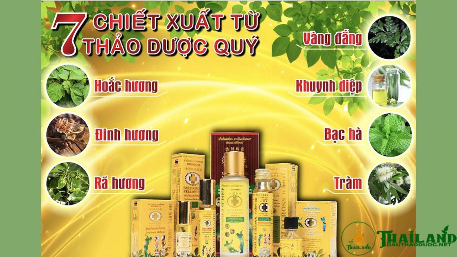 dầu Thái Lan Thập Tự Vàng