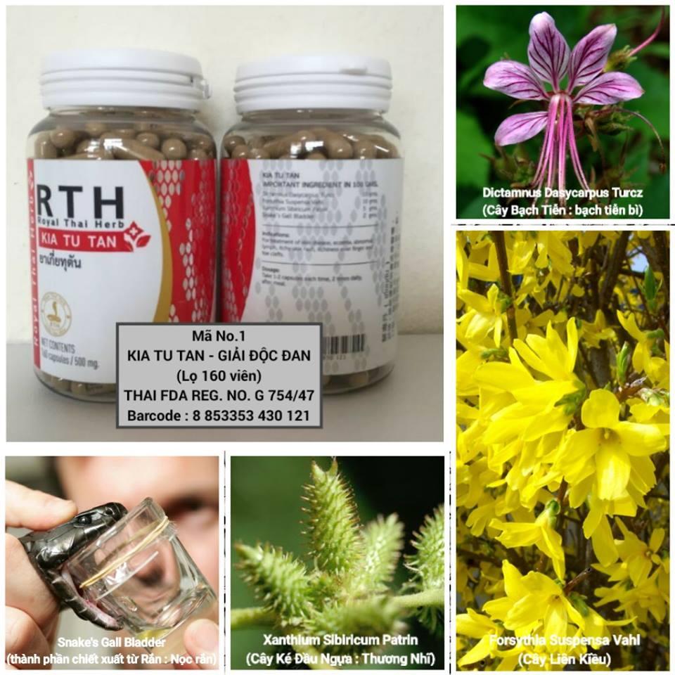 thành phần thuốc rắn thái lan số 1 kia tu tan royal thai herb